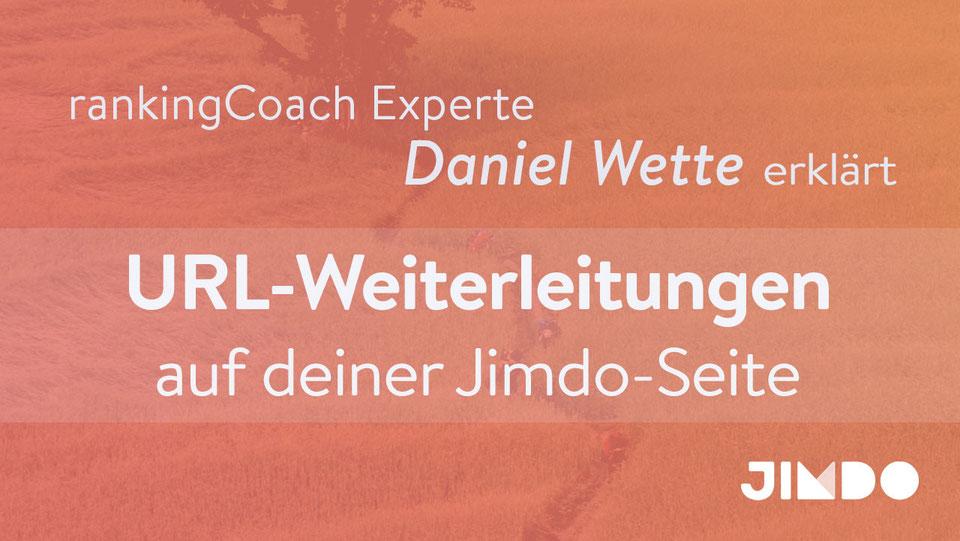 Jimdo Webinar URL Weiterleitungen Daniel Wette
