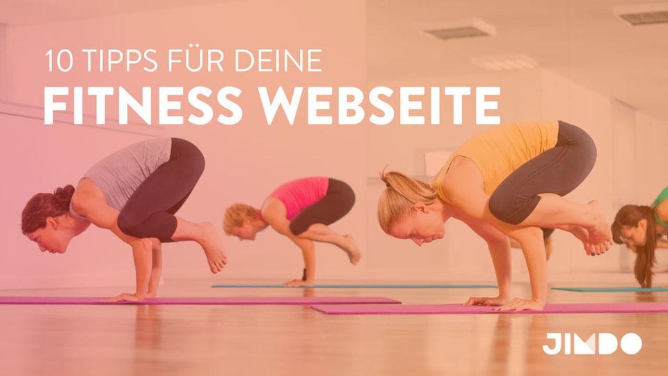 Jimdo Webinar Tipps für Fitness-Webseiten