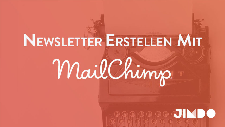 Jimdo Webinar Newsetter erstellen mit MailChimp