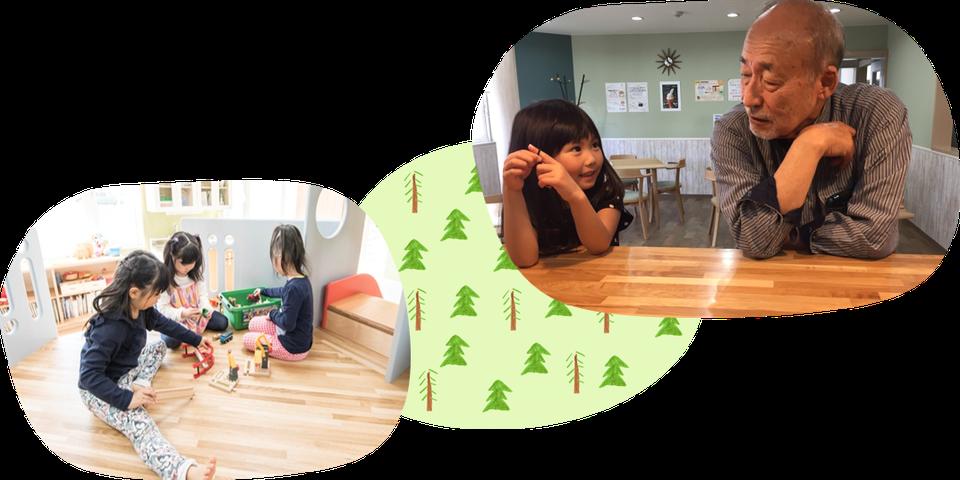 枝幸町にある子育てサポート拠点施設にじの森は赤ちゃん、学生、お年寄りまで多世代にわたって利用できる施設です。