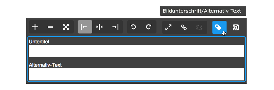 Jimdo: Bildunterschrift und Alternativ-Text Bild-Element