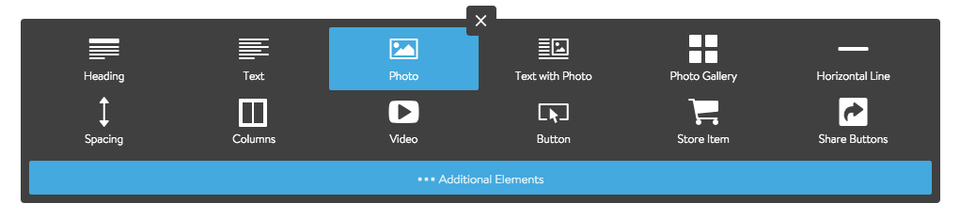 Add a Photo Element to your Jimdo Website
