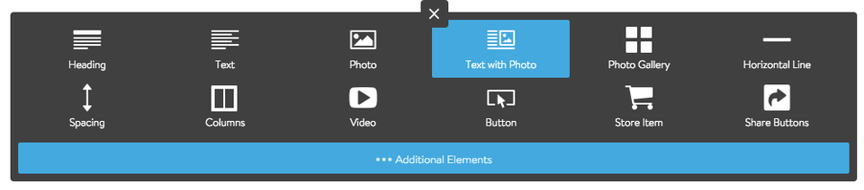 Add a Text with Photo Element