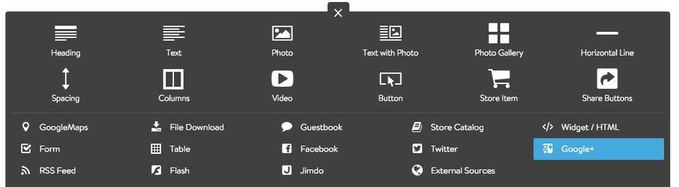 Add Google+ Element