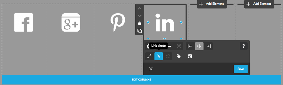 Adding social media icons
