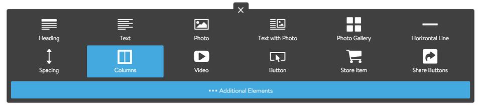 Adding a Columns Element