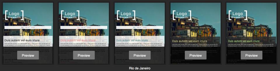 Jimdo template - Rio de Janeiro variations
