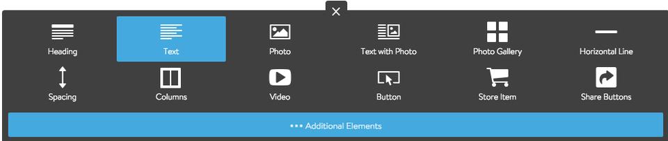 Adding a Text Element
