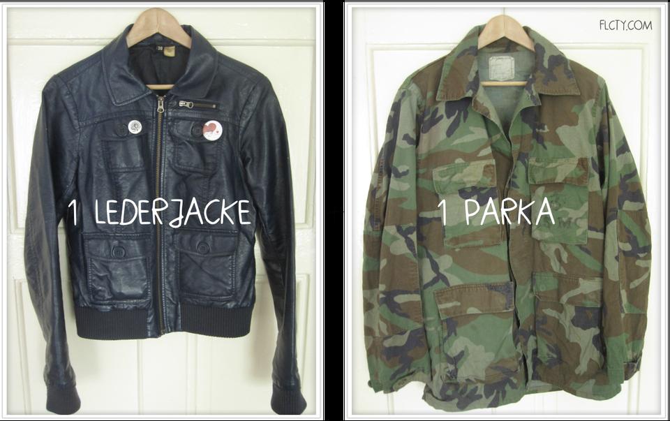 DIY-Jacke mit Lederärmeln: Lederjacke + Parka