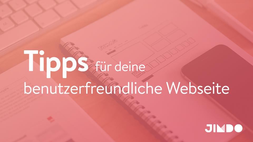 Jimdo Webinar Benutzerfreulichkeit auf deiner Webseite UX-Tipps