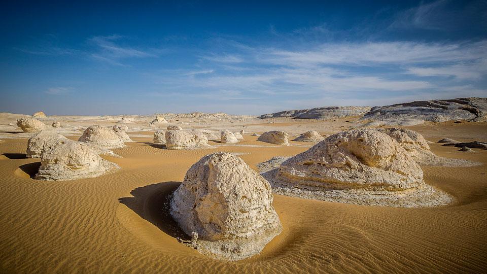 Limestones at White Desert, Western Desert in Egypt
