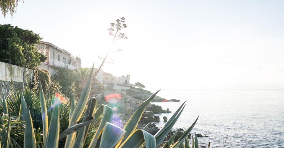 Coastal sunrise in Fertilia