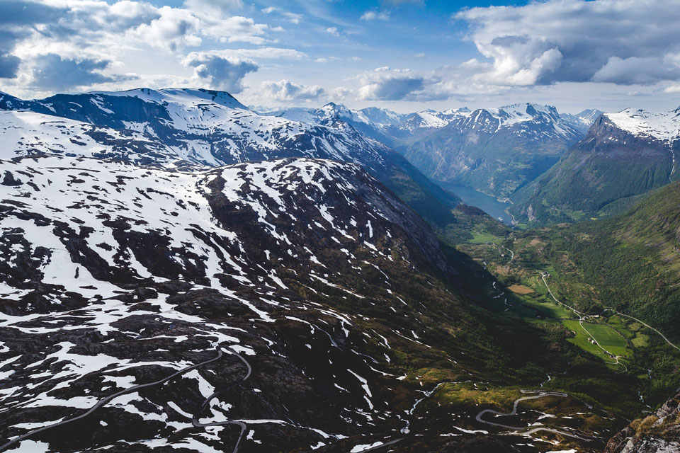 Fjell field on top of Geiranger Fjord, Norway