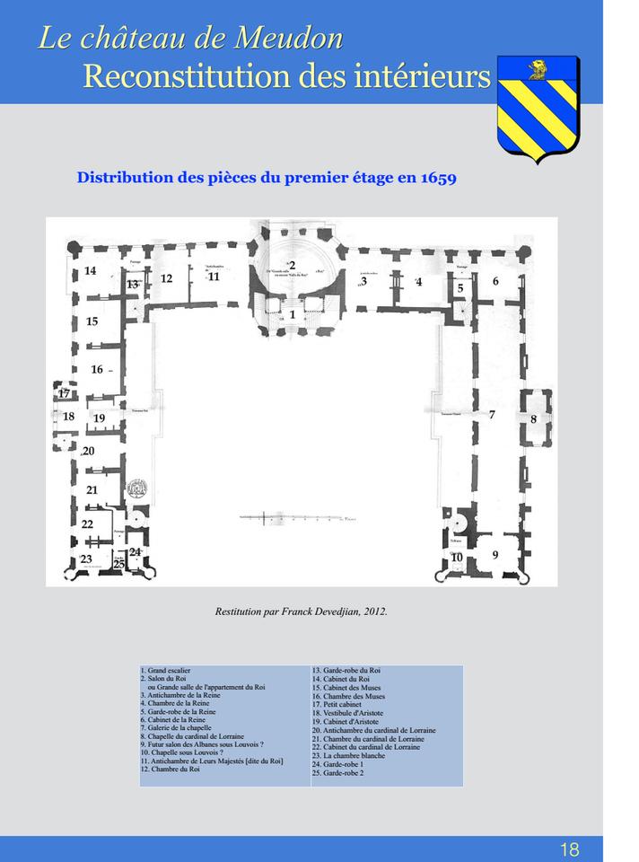 18-Le châteus de Meudon Reconstitution des intérieurs
