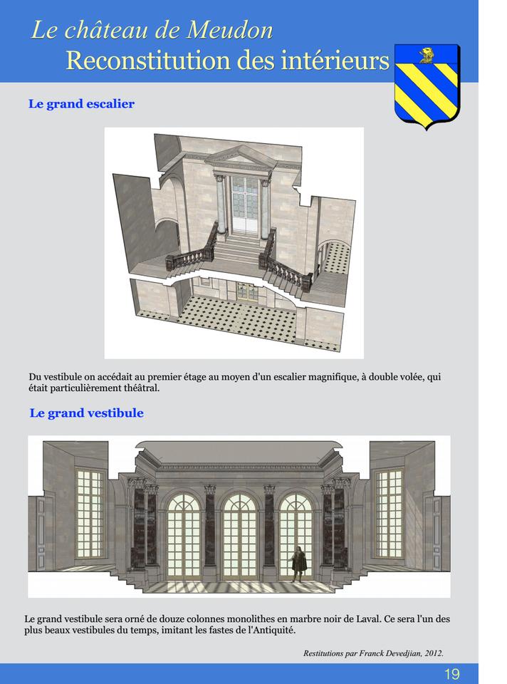 19-Le châteus de Meudon Reconstitution des intérieurs