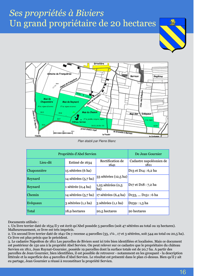 16-Ses propriétés à Biviers Un greand propriétaire de 20 hectares