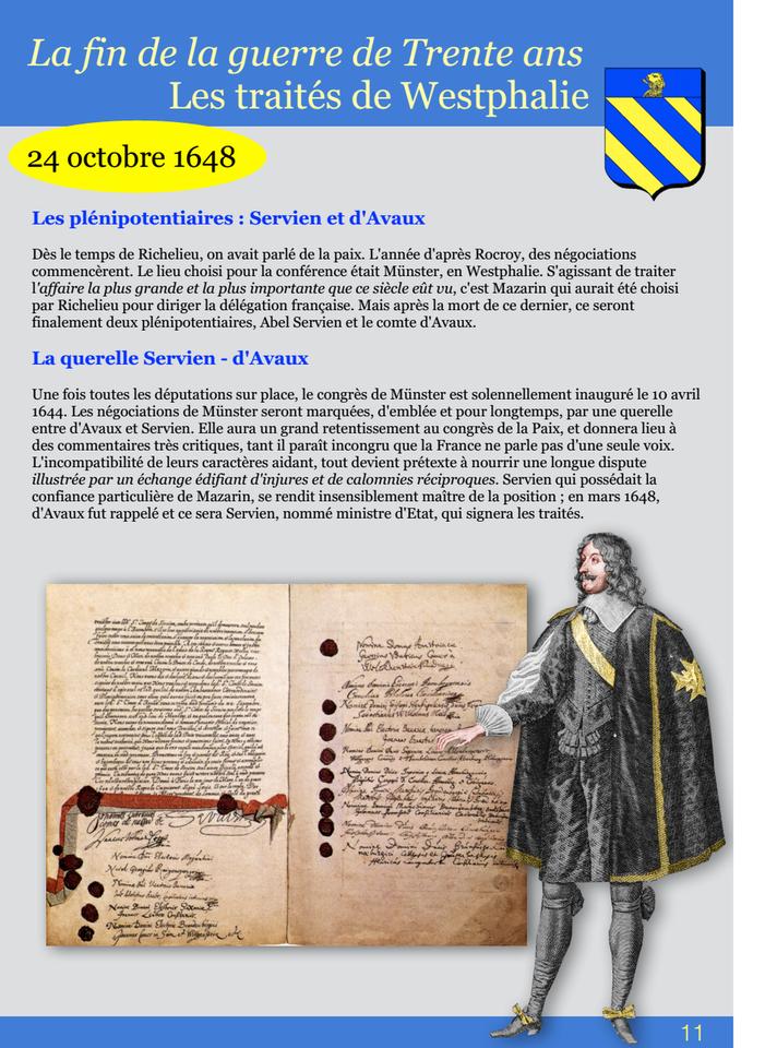 11-La fin de la guerre de Trente ans Les traités de Westphalie