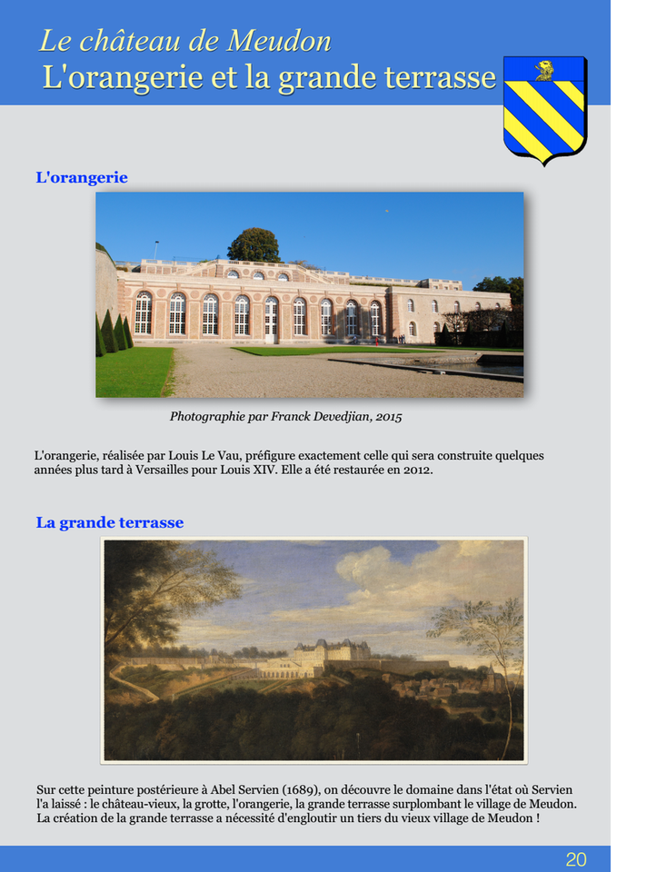 20-Le châteus de Meudon L'orangerie et la grande terrasse