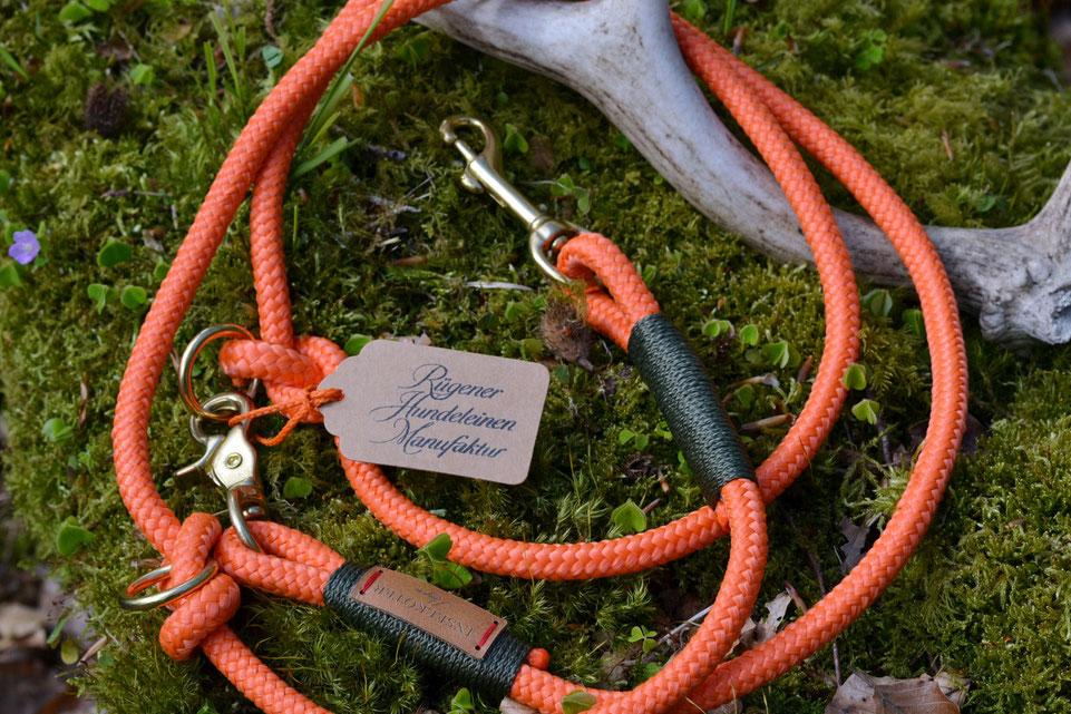 Verstellbare Führleine für die Jagd aus Tauwerk