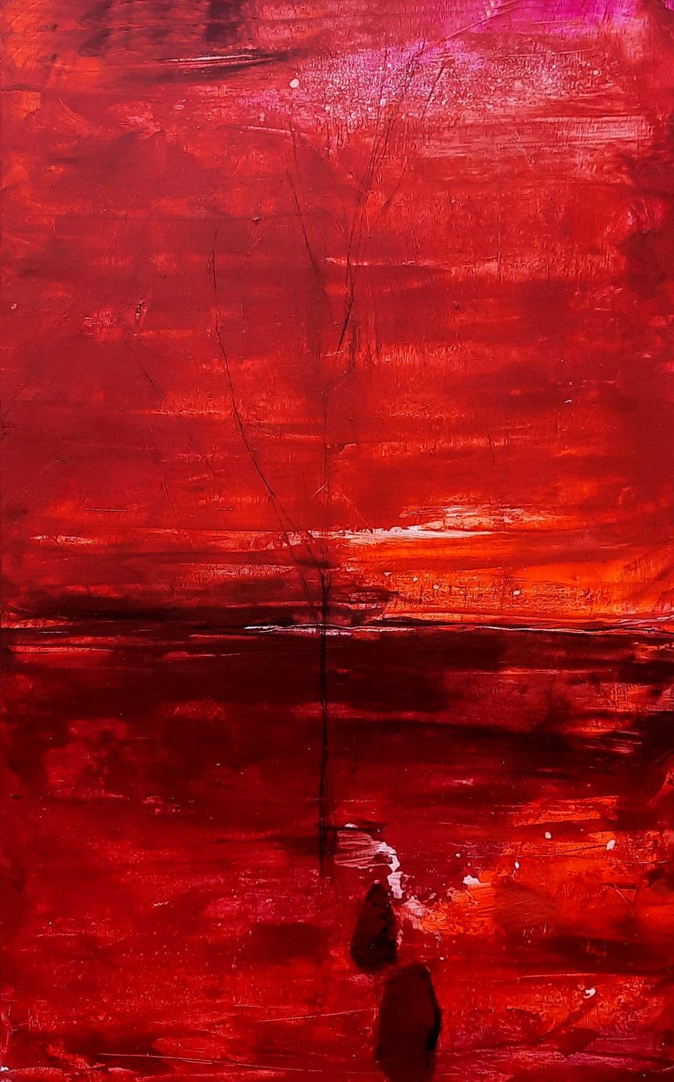 Keilrahmen 4 cm - rotes -Bild