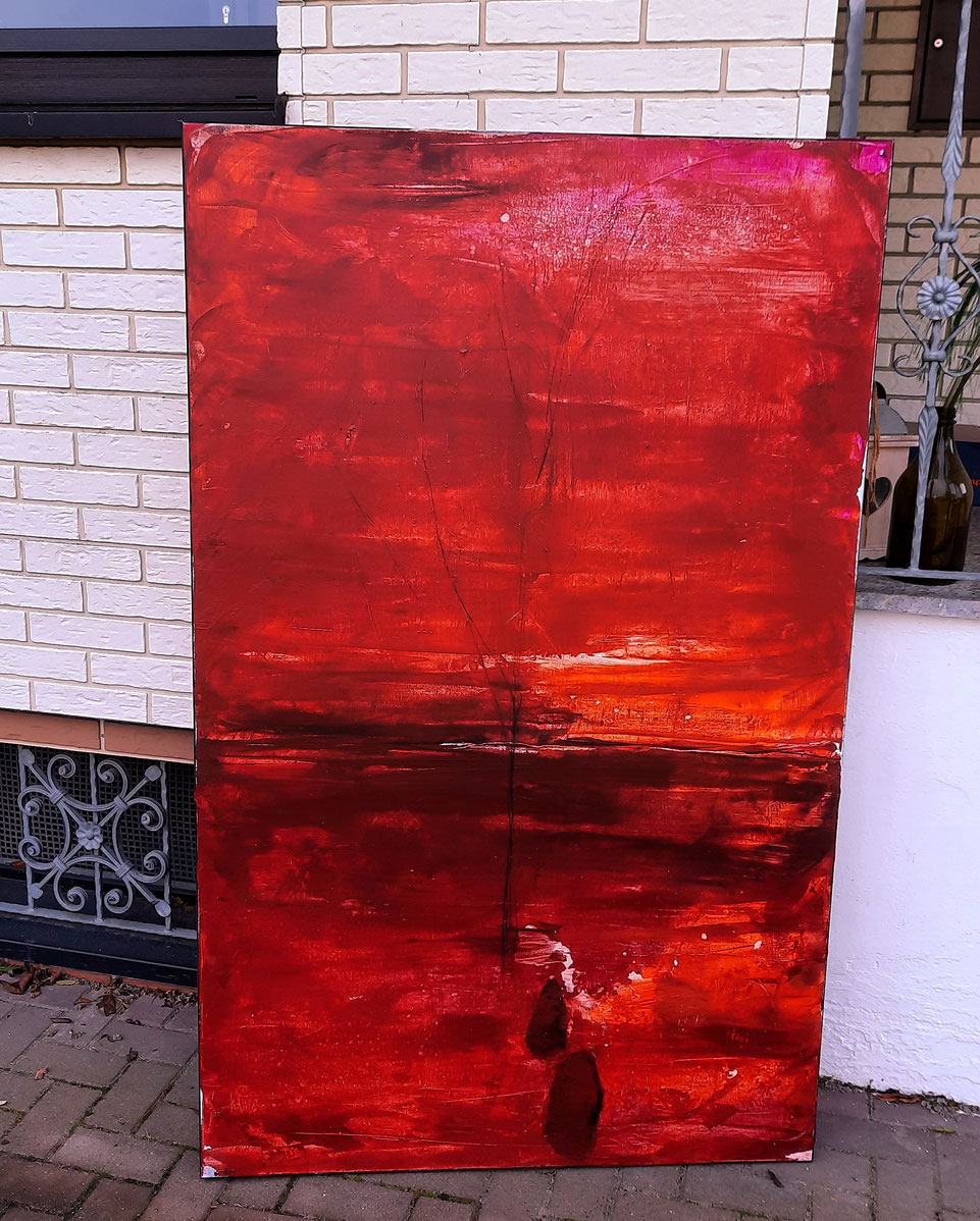 rotes Kunstbild