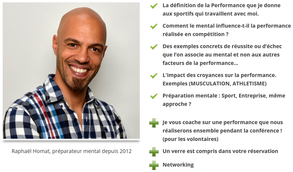 conférences, conférence, préparation mentale, sport, performance, mental, musculation, athlétisme, football, raphael homat, raphaël homat, préparateur mental, preparateur mental, mental 2 pros, stress entreprise,