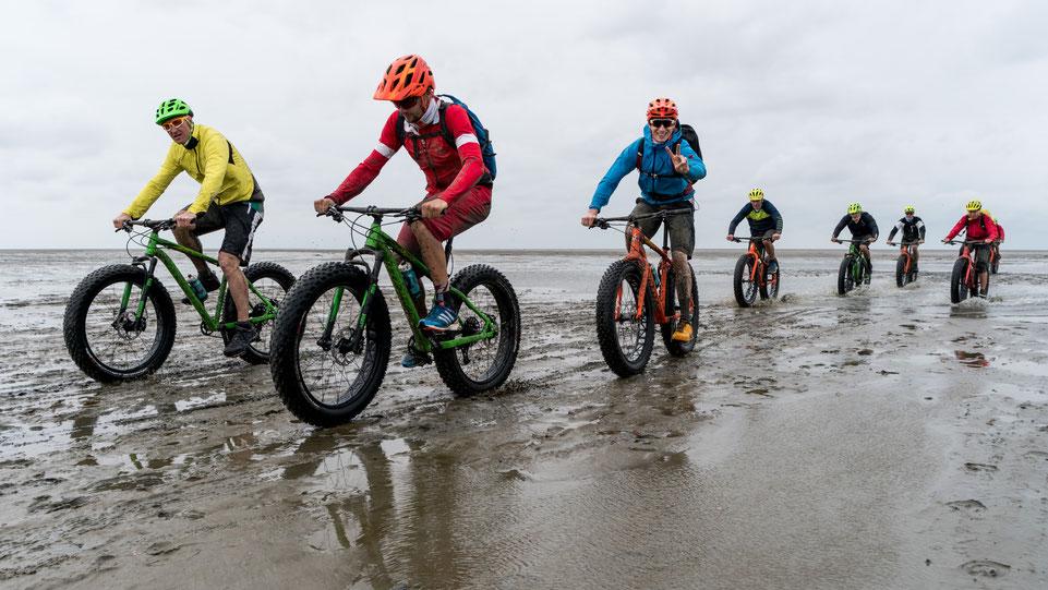 Mountain bikers near Neuwerk