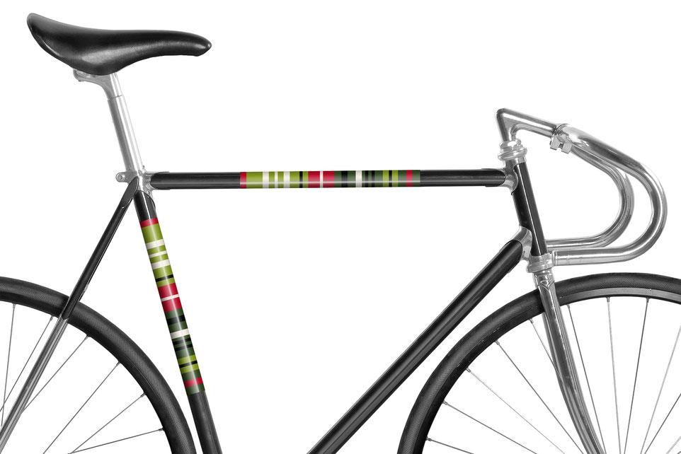 Fahrrad reflektierende Folie Streifen Grün
