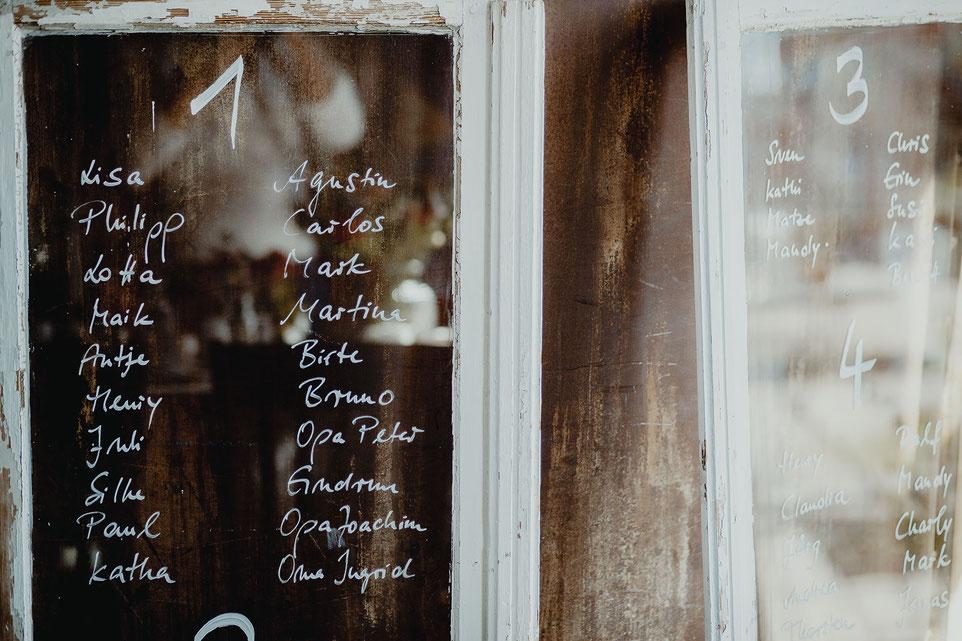 Alte Fenster als Hochzeitsdeko
