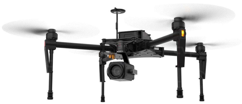 DJI Matrice 100 es compatible con la cámara Zenmuse Z30 ideal para aplicaciones de supervisión, vigilancia, misiones de búsqueda, rescate, inspección, de seguridad pública y privada