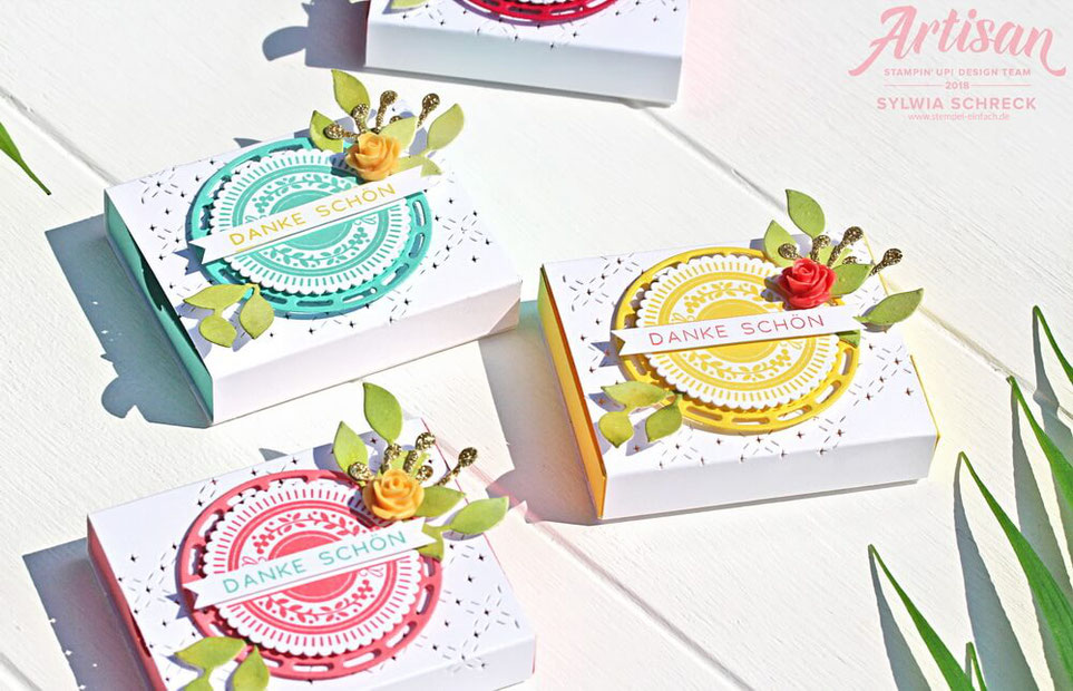 bestickte gruesse-stampin up-goodies