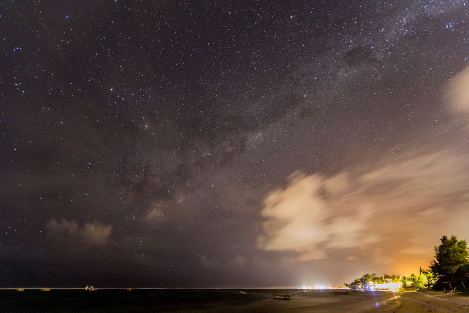 Milkyway seen from a beach on Mauritius