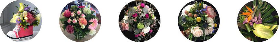 Compositions florales, Bouquet rond classique, champêtre, exotique...