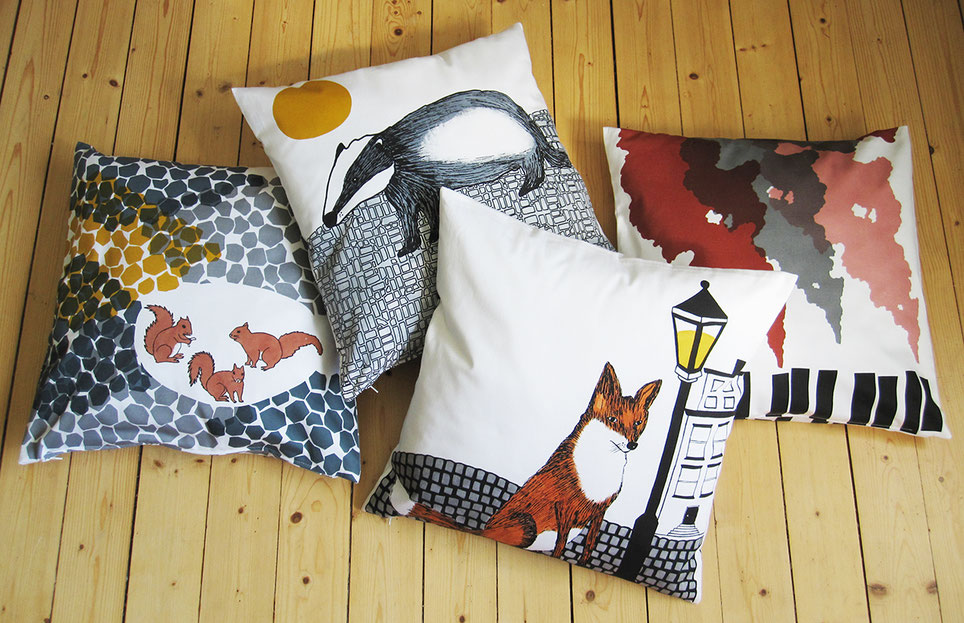 Cushion kuddar rav fox gravling badger ekorre squirells
