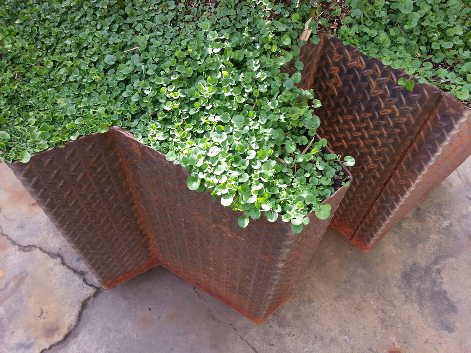 grant irish outdoor steel planter on wheels