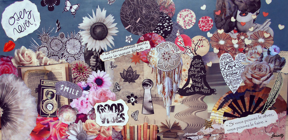 Tableau, collage Boheme