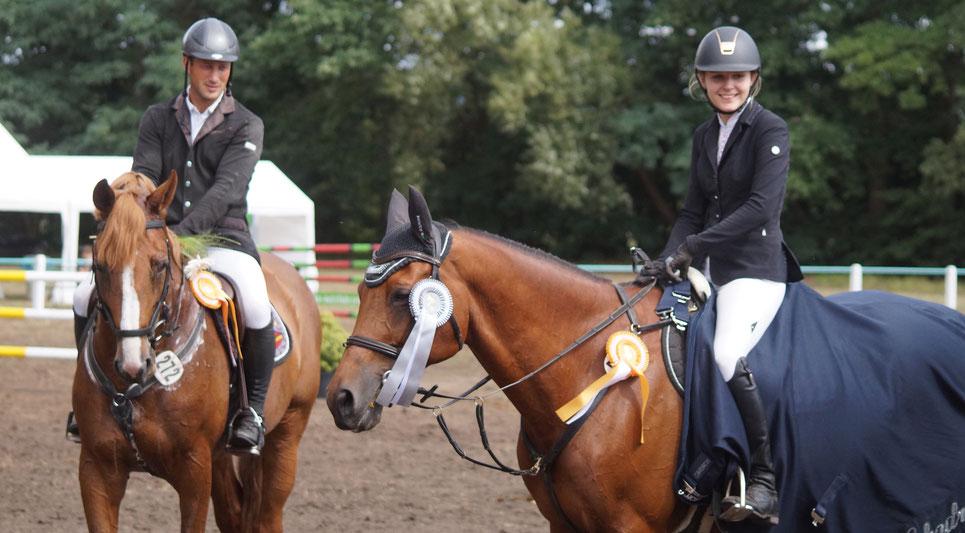 Steffen Buchheim und Lena Dreilich bei der Siegerehrung. Foto: Alpha-Report