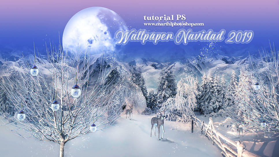 Tutorial PS Wallpaper Navidad 2019