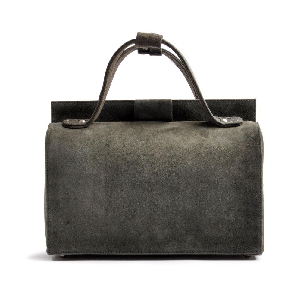 Ledertasche ESTELLE grau Vintage Stil  OSTWALD Traditional Craft