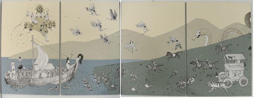SERIGRAFIA u.b.m.a. 200x70 - collaboration with SQUADRO EDIZIONI GRAFICHE