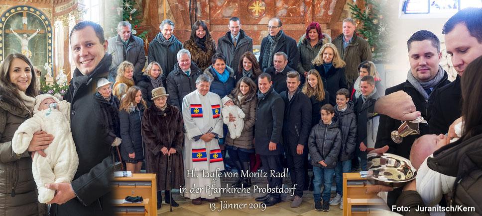 Mehr Fotos unter / Bilder 2 / Menschen / Taufe Moritz Radl