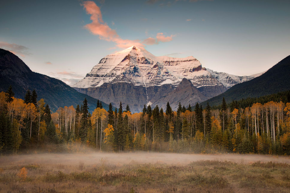 Mount Robson in Canadian Rockies