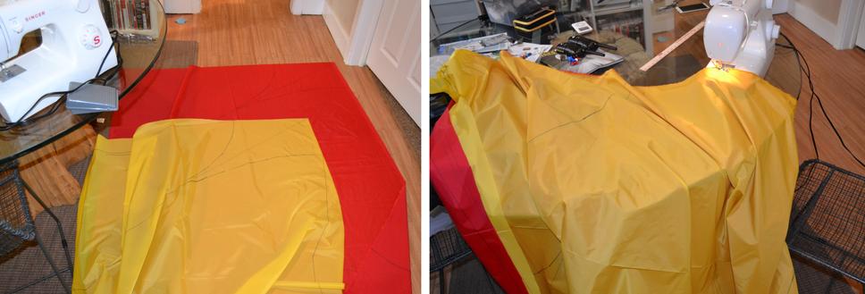 A homemade parachute.