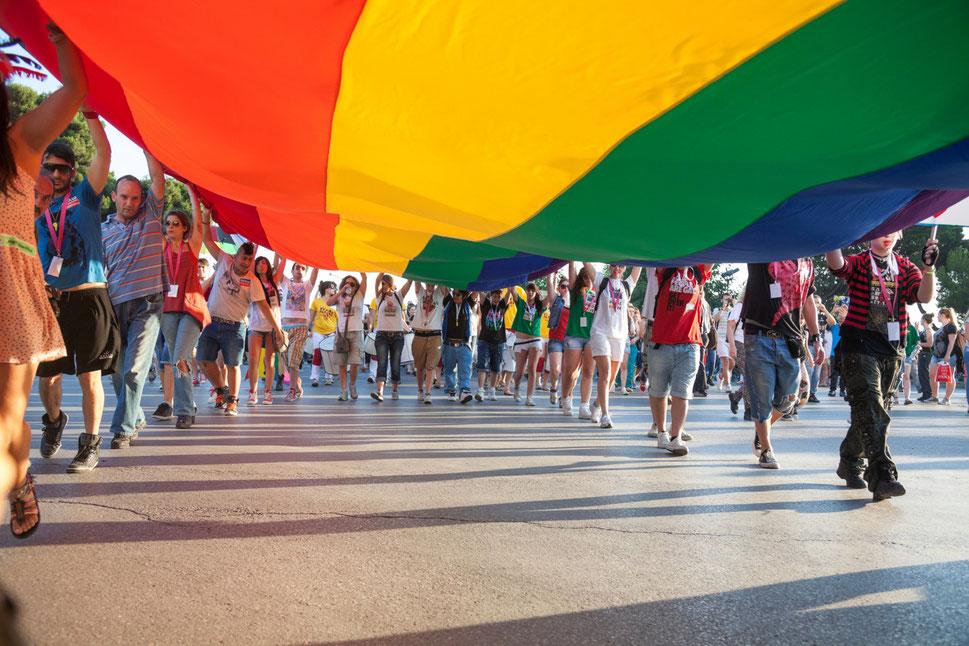 Paris Gay Pride Marche des Fiertésannual gay Pride and LGBT celebrations Parade held in Paris