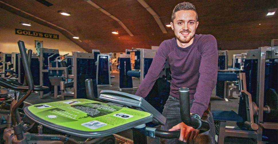 FC-Kapitän Fabio Couspatras im Fitnessstudio (Foto: deutzmann.net)
