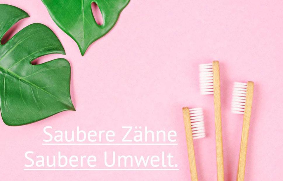 Bambus Zahnbürste von apfeldental.at - saubere Zähne, saubere Umwelt.
