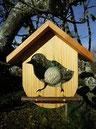 mangeoire à oiseau en bois à suspendre