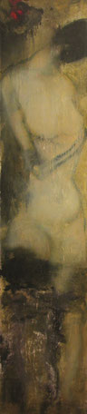 人体四季之一 BODY OF THE SEASONS 1 200X40CM 布面油画 OIL ON CANVAS 2005 (收藏于丹麦 COLLECTED IN DENMARK)
