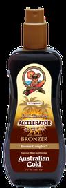 Dark Tanning Accelerator met bronzer SPF Outdoor Australian Gold Zonnebank creme bronzer zoncosmetica DHA cosmetisch natuurlijk