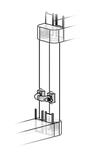 vertikale Rohrausführung der 2-Kammern-Organismenwanderhilfe